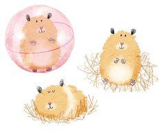 Hamsters by cally jane studio