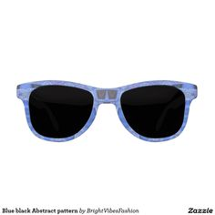 Blue black Abstract pattern Sunglasses