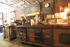 Black Brick Coffee, New York City, New York — by GlobetrotterGirls. One of the best coffee shops in Brooklyn. Definitely the one with the most creative and unique interior design. The...