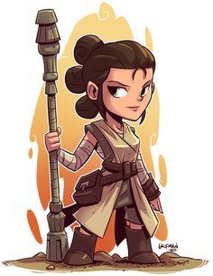 Rey - Chibi Star Wars Charactersby Derek Laufman