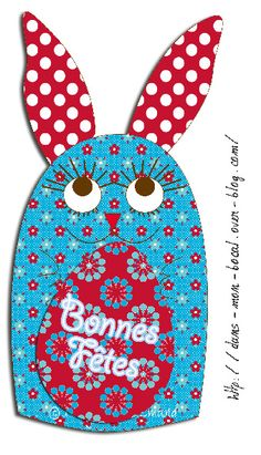 carte lapin de pâques 2011 by Nadja PETREMAND, via Flickr