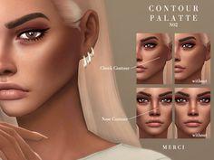Los Sims 4 Mods, Sims 4 Body Mods, Sims 4 Game Mods, Nose Contouring, Contour Makeup, Blush Makeup, Blush Beauty, Face Beauty, Beauty Skin