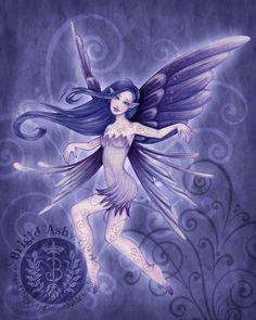 Art: Fantasy (Fairies), Artist: Brigid Ashwood, Title: Windy (Fairy Sprite Series)