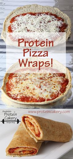 Prot: 23 g, Carbs: 8 g, Fat: 8 g, Cal: 196 -- Protein Pizza Wraps from Andréa's Protein Cakery!