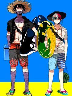 Boku no Hero Academia {My Hero Academia} - Dabi and Todoroki Shoto Comic Anime, Me Anime, Fanarts Anime, Otaku Anime, Anime Guys, Manga Anime, Boku No Hero Academia, My Hero Academia Memes, Hero Academia Characters
