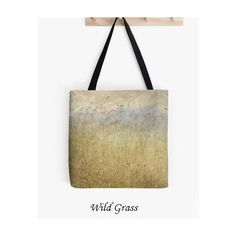 Tote Bag Wild Grass, Field, Spring, Farmer's Market Bag, Travel Bag,... ($30) ❤ liked on Polyvore featuring totes