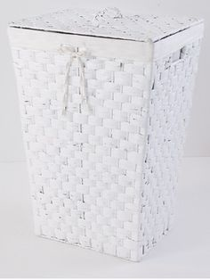 White Tapered Linen Basket Baskets Laundry Online Ping Room