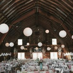 Pink and White Barn Reception Decor