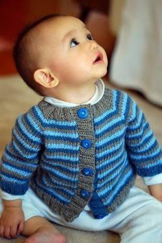 The Brown Stitch | Knitting Blog - note different color button bands - bottom one matches buttons