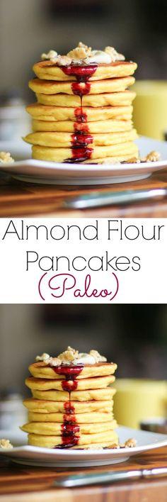 Almond Flour Pancakes   gluten-free, grain-free, and paleo!   TheRoastedRoot.net #healthy #breakfast #recipe