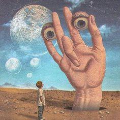 "Artist: Title: ""Hope And Innocence"" Medium: Digital Collage Date: 2018 Size: N/A Creepy Art, Weird Art, Bizarre Art, Art Zen, Psychadelic Art, 8bit Art, Psy Art, Surrealism Painting, Pop Surrealism"