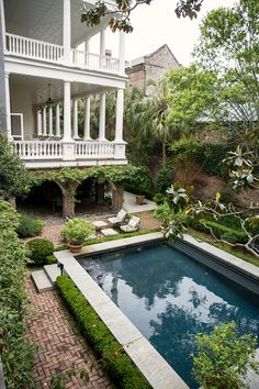 William Gatewood house in Charleston Style, Charleston Homes, My Pool, Garden Pool, Coastal Homes, Pool Houses, Architect Design, Plein Air, Decoration