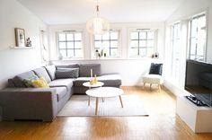 living room, bright, grey and yellow, scandinavian, scandistyle, interior Scandinavian, Decor, Rugs, Living Room, Home, Interior, Contemporary Rug, Home Decor, Room