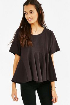 Kimchi Blue Arched Peplum Tee - Urban Outfitters