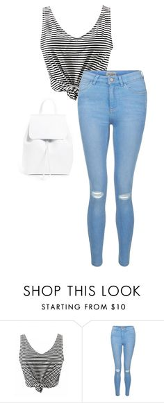 """""""./...//.../..."""" by anna-mae-equils on Polyvore featuring New Look and Mansur Gavriel"""