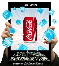Custom design 3D posters. Pricing available upon request.
