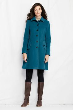 Women's Pattern Wool Swing Car Coat from Lands' End | Fall/Winter ...