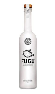 FUGU small batch Vodka... Dicing with death? Russian Roulette with a drink... The sip of death..... Now with essence of Blow fish! Reminds me of that Columbo..... I'm a huge fan! ( it was essence of blowfish but in a wine bottle! Point is... I love it! I'd have it in my cupboard! AJ