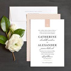 Elegant Monogram Wedding Invitations by Olivia Raufman | Elli