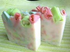 Birthday cake soap. Smells like a big, gooey, buttercream frosted SLICE OF HEAVEN  by AquaeSulisSoaps on Etsy, $6.00