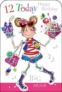 Happy Birthday Kind, 12th Birthday Girls, Birthday Wishes For Kids, Birthday Clips, Birthday Girl Quotes, Art Birthday, Happy Birthday Images, Birthday Greetings, 1st Birthday Parties