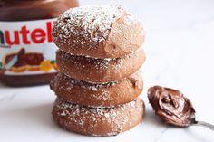 Nutella koekjes met 3 ingrediënten - Annabella's Foodblog Cookie Cake Pie, Cake Cookies, Cake Recipes, Dessert Recipes, Desserts, Keto Recipes, Cheesecake Pops, Baking With Kids, Food Cakes