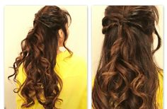 HE FLIP-IN HALF UPDO HAIRSTYLE  The Flip-in Updo Hairstyle is so easy to style and takes less time as compared to other easy long hair hairstyles.