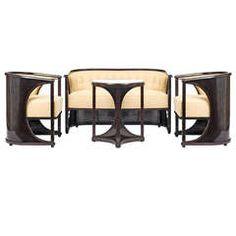 Wiener Werkstatte Tea Set | Josef Hoffmann attr., Seating Group, so-called Half-Moon Suite, Vienna ...