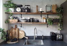 Ideas Design Room Kitchen Shelves For 2019 Rustic Kitchen Design, Interior Design Kitchen, Kitchen Designs, Kitchen Furniture, Kitchen Decor, Wooden Furniture, Furniture Ideas, Kitchen Ideas, Furniture Design