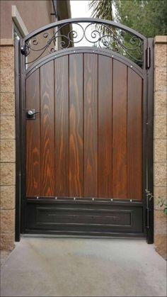 Hallway door- Puerta de pasillo Hallway door - in 2020 Wooden Garden Gate, Metal Garden Gates, Metal Gates, Wooden Gates, Wrought Iron Gates, Garden Doors, Front Gate Design, Door Gate Design, House Gate Design