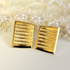 Gold stud Braided earring  elegant 14k gold coated post by iloniti, $24.00
