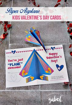 Paper airplane Valentine Cards for kids will be the most popular card in class! Just print out, fill in, fold and hand out. Recipients can cut out and fold the plane for Valentine's Day fun.