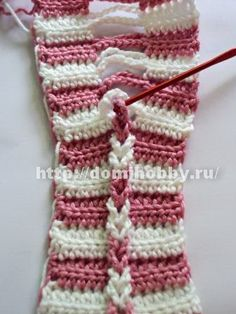 crochet braid - easy way to make cables in crochet!!