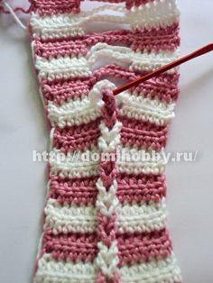 I wondered how they did this braid!    tuto http://domihobby.ru/702-priem-vyazaniya-kosichki.html