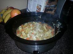 Easy crockpot chicken noodle soup