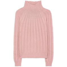 Bottega Veneta Cashmere Turtleneck Sweater ($1,015) ❤ liked on Polyvore featuring tops, sweaters, pink, pink turtleneck, cashmere sweater, pink cashmere sweater, pure cashmere sweaters and pink turtleneck sweater