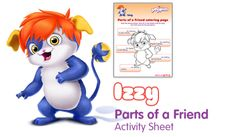 Izzy Parts of a Friend - Free Fun Party Popples Printables and Activities | SKGaleana