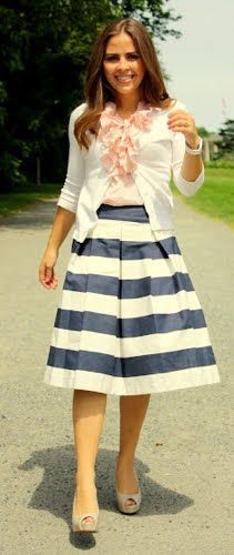 Outfit Posts: outfit post: awning skirt, coal top, white cardigan