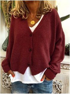 Loose Knit Sweaters, Casual Sweaters, Sweater Cardigan, Casual Jeans, Comfy Casual, Smart Casual, Casual Chic, Casual Blazer, Women's Cardigans