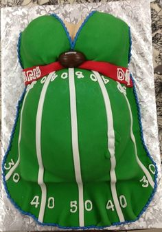 Football baby shower cake.