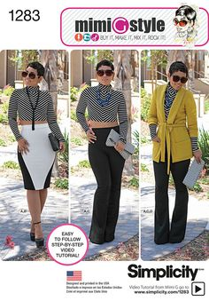 Simplicity Pattern 1283U5 16-18-20-2-Misses Sportswear
