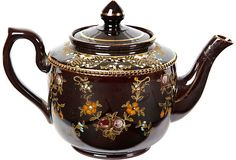 I have this same Vintage Floral Teapot that just sold on One Kings Lane for $249. Fortunately I've had it a very long time & didn't have to pay near so much!