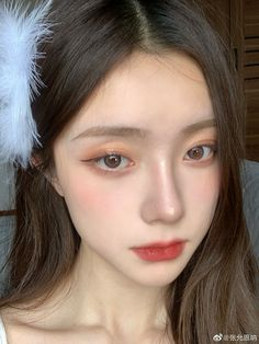 Makeup Korean Style, Korean Natural Makeup, Korean Eye Makeup, Korea Makeup, Asian Makeup, Natural Makeup Looks, Cute Makeup, Pretty Makeup, Hair Makeup