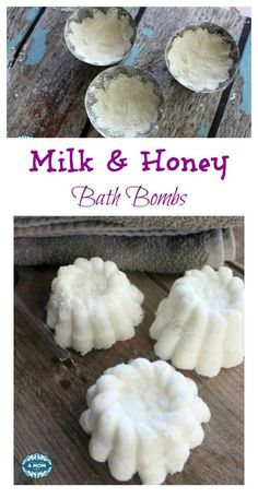 DIY Soothing Milk and Honey Bath Bombs - Great Gift Idea Too! - More Than A These DIY Milk and Honey Bath Bombs make your bath time a luxurious and heavenly scented experience as the Bath Boms, Shower Bombs, Diy Bath Bombs, Shower Mold, Bombe Recipe, Bomb Making, Bath Bomb Recipes, Soap Recipes, Bath Melts