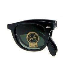b6fcca31b40025 Replica Ray Ban Sunglasses RB4105 folding black frame green lenses  http   www.