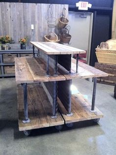 could be an awesome walk around fixture. I would make the bottom a little taller and more shelves: