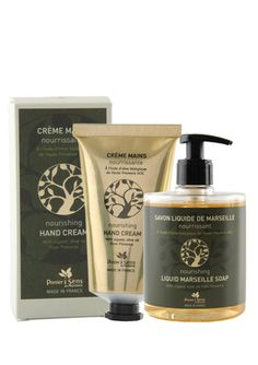PANIER DES SENS Organic Olive Oil Liquid Marseille Soap and Hand Cream Set