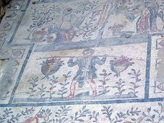 children hunting mosaic