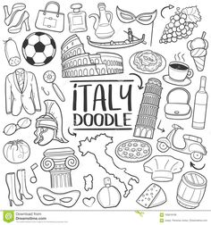 Illustration about A emblematic elements and Tools Traditional Doodle Style Hand Drawn elements and objects set. Illustration of artwork, design, elements - 105818106 Doodle Drawings, Doodle Art, Easy Drawings, Travel Doodles, Note Doodles, Doodle Icon, Thinking Day, Bullet Journal Ideas Pages, Travel Scrapbook
