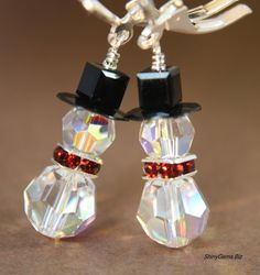 Swarovski Earrings Holiday Jewelry Swarovski Crystals by ShinyGems, $24.00
